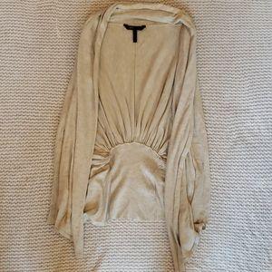 BCBG MAXAZRIA XS Cardigan. Oatmeal color